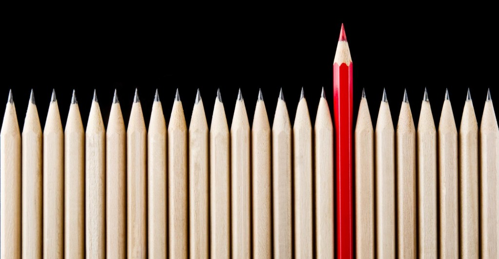 stand out, unique, red pencil_1